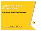 ATM Card Skimming & PIN Capturing: Customer Awareness Guide