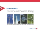 Bank of America Environmental Progress Report 2010