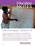 In Their Own Language…Education for All