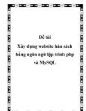Xây dựng website bán sách bằng ngôn ngữ lập trình php và MySQL