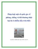 Pháp luật một số quốc gia về phòng, chống và bồi thường thiệt hại do ô nhiễm dầu trên biển
