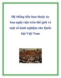 Hệ thống tiểu ban thuộc ủy ban nghị viện trên thế giới và một số kinh nghiệm cho Quốc hội Việt Nam