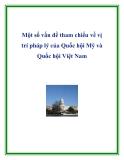 Một số vấn đề tham chiếu về vị trí pháp lý của Quốc hội Mỹ và Quốc hội Việt Nam