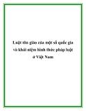 Luật tôn giáo của một số quốc gia và khái niệm hình thức pháp luật ở Việt Nam