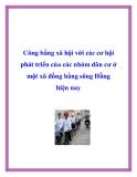 Công bằng xã hội với các cơ hội phát triển của các nhóm dân cư ở một xã đồng bằng sông Hồng hiện nay