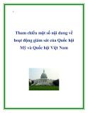 Tham chiếu một số nội dung về hoạt động giám sát của Quốc hội Mỹ và Quốc hội Việt Nam