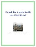 Các hình thức và nguyên tắc chất vấn tại Nghị viện Anh