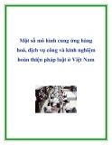 Một số mô hình cung ứng hàng hoá, dịch vụ công và kinh nghiệm hoàn thiện pháp luật ở Việt Nam