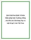 Quá trình ban hành và hoàn thiện pháp luật về phòng chống rửa tiền của Liên bang Nga và một số gợi ý cho Việt Nam