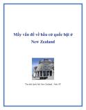 Mấy vấn đề về bầu cử quốc hội ở New Zealand