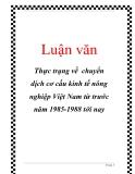 Luận văn: Thực trạng về chuyển dịch cơ cấu kinh tế nông nghiệp Việt Nam từ trước năm 1985-1988 tới nay