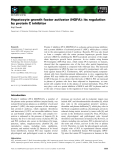 Báo cáo khoa học: Hepatocyte growth factor activator (HGFA): its regulation by protein C inhibitor