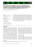 Báo cáo khoa học: Neuronal growth-inhibitory factor (metallothionein-3): evaluation of the biological function of growth-inhibitory factor in the injured and neurodegenerative brain