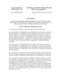 Quyết định số 31/2012/QÐ-UBND