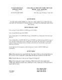 Quyết định số 98/2012/QĐ-UBND