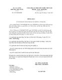 Thông báo số 3164/TB-KBNN