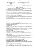 Thông tư liên tịch số 62/2012/TTLT-BNNPTNT-BTC