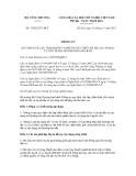 Thông tư số 33/2012/TT-BCT