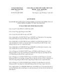 Quyết định số 40/2012/QĐ-UBND
