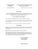 Quyết định số 79/2012/QĐ-UBND