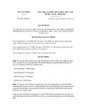 Quyết định số 3047/QĐ-BTC