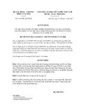 Quyết định số 1619/QĐ-LĐTBXH