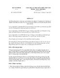 Thông tư số 194/2012/TT-BTC