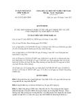 Quyết định số 83/2012/QĐ-UBND