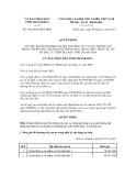 Quyết định số 3663/2012/QĐ-UBND