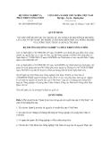 Quyết định số 2863/QĐ-BNN-HTQT