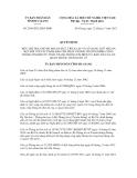 Quyết định số 2549/2012/QĐ-UBND