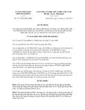 Quyết định số 3737/2012/QĐ-UBND
