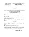 Quyết định số 53/2012/QĐ-UBND
