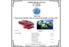 Đề tài: Ứng dụng vật liệu bao bì trong thực phẩm và thủy sản