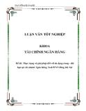 Luận văn: Thực trạng và giải pháp đối với tín dụng trung - dài hạn tại chi nhánh Ngân Hàng No&PTNT Đông Hà Nội