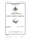 Tiểu luận: Nghiên cứu marketing