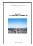 Bài giảng Kỹ thuật chiếu sáng đô thị - Nguyễn Mạnh Hà