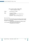 Báo Cáo Đồ án Điện Tử ĐIện Hình Thiết kế hệ thống đệm từ trường