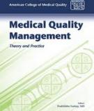 MEDICAL QUALITY MANAGEMENT THEORY AND PRACTICE