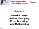 Chapter 21 Network Layer: Address Mapping, Error Reporting, and Multicasting