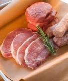 Chất bảo quản trong chế biến thịt