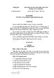 Nghị định của chính phủ về tổ chức hoạt động ngân hàng thương mại