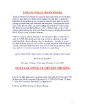 Tài liệu về Luật các công cụ chuyển nhượng