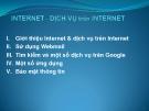 Internet & dịch vụ trên Internet