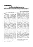 """Báo cáo """" Vấn đề xã hội hoá giáo dục đại học trong dự thảo luật giáo dục đại học ở Việt Nam hiện nay """""""