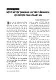 """Báo cáo """" Một số bất cập trong pháp luật điều chỉnh hành vi hạn chế cạnh tranh của Việt Nam """""""
