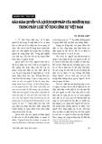 """Báo cáo """"   Bảo đảm quyền và lợi ích hợp pháp của người bị hại trong pháp luật tố tụng hình sự Việt Nam """""""