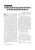 """Báo cáo """" Tư tưởng lập hiến Việt Nam và một số vấn đề đặt ra khi tiến hành sửa đổi hiến pháp năm 1992 """""""