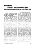 """Báo cáo """" Cải cách thủ tục thành lập doanh nghiệp ở Việt Nam trong chặng đường 10 năm hội nhập kinh tế quốc tế (2000-2010) """""""