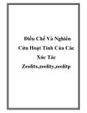 Luận văn: Điều Chế Và Nghiên Cứu Hoạt Tính Của Các Xúc Tác Zeolitx,zeolity,zeolitp